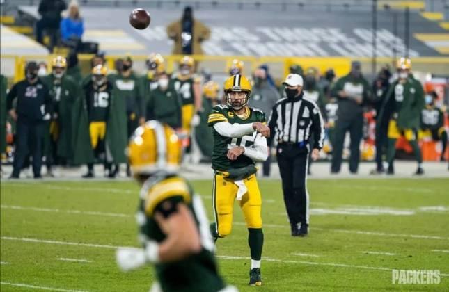 2º Aaron Rodgers (Green Bay Packers): Líder em touchdowns, QBR e passing rating na temporada. Rodgers faz um ano 'quase perfeito'.
