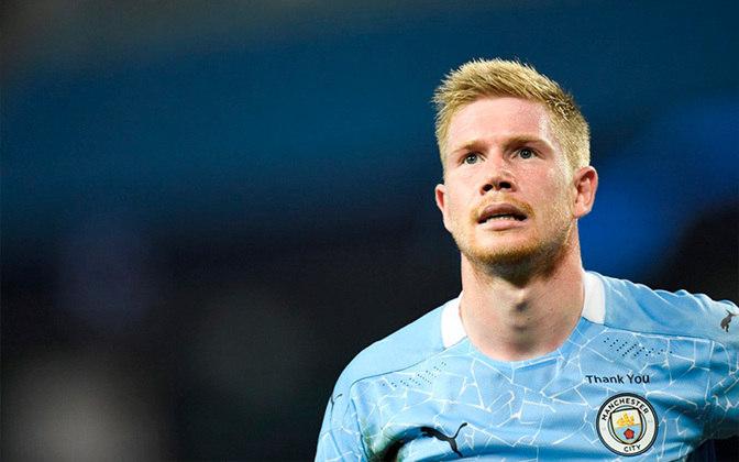 2º KEVIN DE BRUYNE - meio de campo do Manchester City. Valor de mercado: € 120 milhões (R$ 766 milhões)