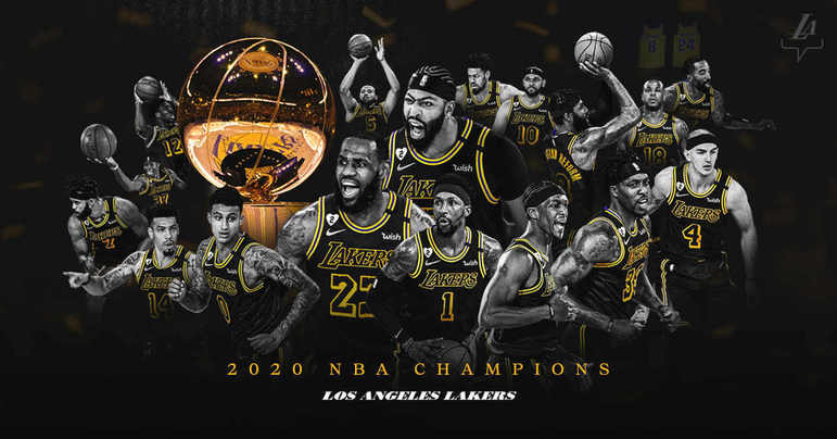 2- Los Angeles Lakers (17 títulos): Com o título obtido diante do Miami Heat, o Los Angeles Lakers igualou a marca do Boston Celtics e, agora, possui 17 campeonatos. Atualmente em Los Angeles, a equipe também já teve como sede a cidade de Minneapolis, onde conquistou os primeiros cinco títulos da história da franquia. Depois, foram mais 12 títulos na Califórnia, com destaque para nomes como Jerry West, Magic Johnson, Kareem Abdul-Jabbar, Shaquille O'Neal, Kobe Bryant e, agora, LeBron James e Anthony Davis