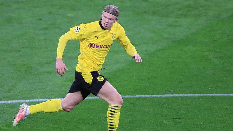 2º lugar - Erling Haaland - Pais: Noruega - Idade: 20 anos - Posição: Atacante - Clube: Borussia Dortmund - Valor de acordo com a consultoria KPMG em maio de 2021: 131 milhões de euros (aproximadamente R$ 837,87 milhões)