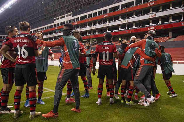 2º lugar - Flamengo: Valor total do elenco segundo o site Transfermarkt: 128,05 milhões de euros (aproximadamente R$ 829,46 milhões)