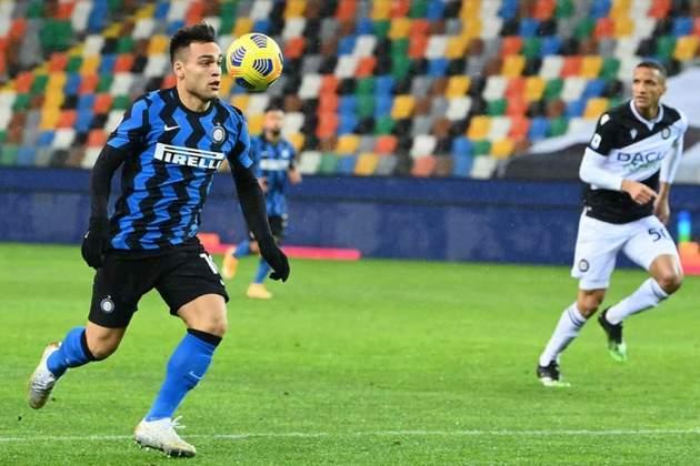 2º lugar: Lautaro Martínez - Atacante - Argentina - Inter de Milão - Valor: 80 milhões de euros (aproximadamente R$ 478,87 milhões)