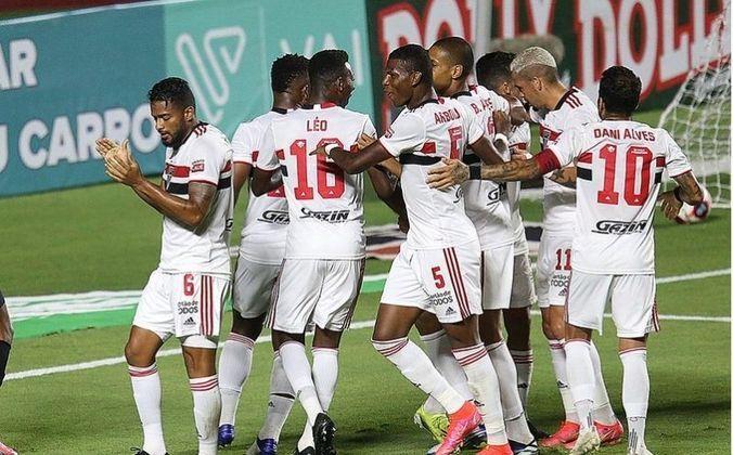 2º - São Paulo: 9 vitórias, 1 empate e 1 derrota em 11 jogos / 84,8% de aproveitamento