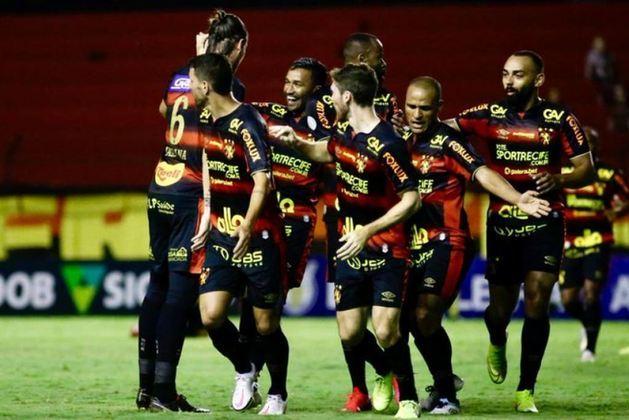 20º - Sport: 10 pontos - duas vitórias - quatro empates - 10 derrotas - 9 gols feitos - 24 gols sofridos.
