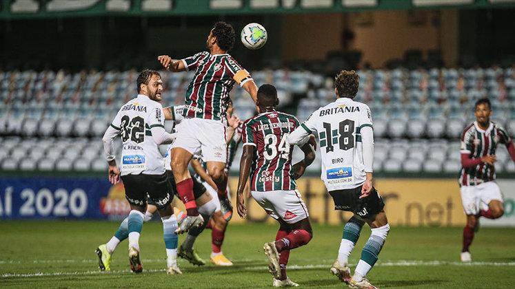 20/01/2021 - Em mais uma partida marcante do último Brasileirão, o Fluminense arrancou o empate por 3 a 3 com o Coritiba. Fred fez o segundo do Tricolor, que, naquele momento, empatava pela primeira vez o duelo.