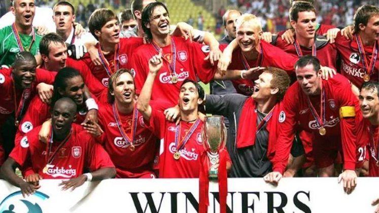 2005 - O Liverpool bateu o CSKA Moscou por 3 a 1.
