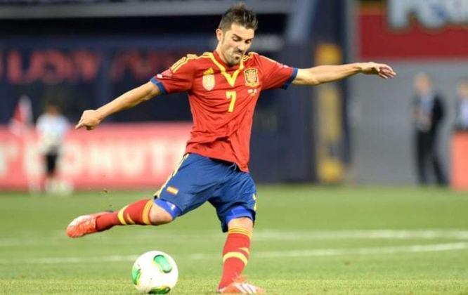 20/06/2013 - Espanha 10 x 0 Taiti - Gols da Espanha: Fernando Torres (4), David Villa (foto) (3), David Silva (2) e Juan Mata
