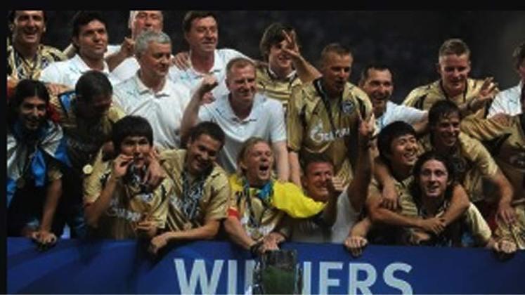 2008 - Os russos do Zenit surpreenderam o Manchester United: 2 a 1.