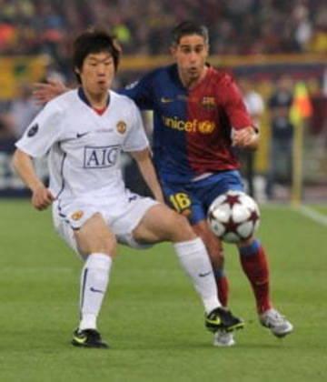 2008/2009 - Barcelona 2x0 Manchester United - brasileiros que atuaram: Sylvinho (Barcelona) e Anderson (Manchester)