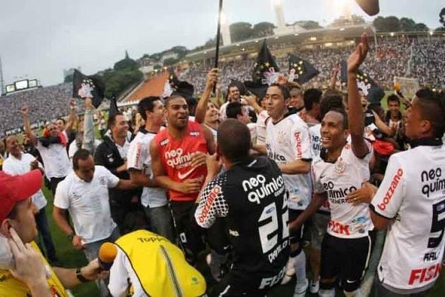 2011: DIFERENÇA: ZERO PONTO. 1º: Corinthians – 51 pontos – 15 vitórias, seis empates, oito derrotas/ 2º: Vasco – 51 pontos – 14 vitórias, nove empates, seis derrotas.
