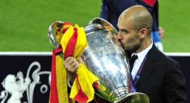 Josep Guardiola conquistou duas Champions pelo Barcelona