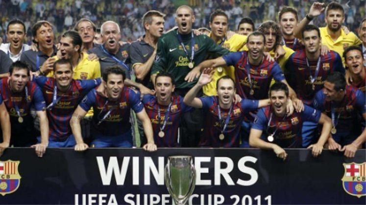 2011 - O Barcelona confirmou o favoritismo e fez 2 a 0 no Porto.