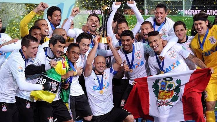 2012 - Com a Libertadores, o Timão ganhou o direito de disputar o Mundial de Clubes da Fifa, no Japão e voltou de lá com mais um título na bagagem ao bater o Chelsea na final do torneio, com um gol de Guerrero e uma atuação fantástica de Cássio.