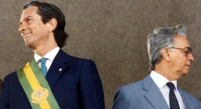 Itamar Franco foi vice de Collor e assumiu presidência após renuncia