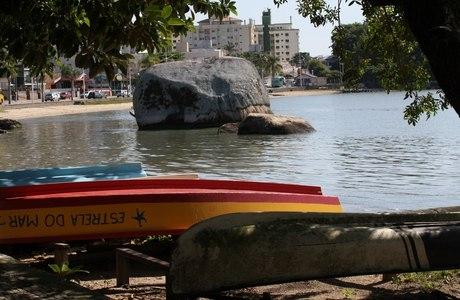 Vista da Praia de Coqueiros em Florianópolis, nesta quarta-feira