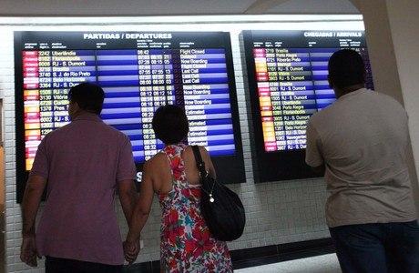 Congonhas, em SP, liderava número de voos atrasados