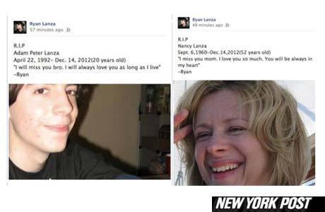 Ryan deixou mensagens para Adam e Nancy em seu Facebook