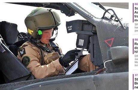 Harry atua como copiloto de um helicóptero Apache no país da Ásia