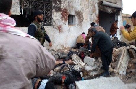 Agência de notícias de rebeldes sírios divulgou imagem dos bombardeios
