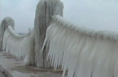 Esculturas de gelo na cidade litorânea de Yantai