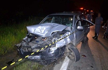 Sete pessoas se envolveram no acidente