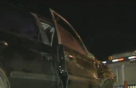 Após tiro, vítima perdeu o controle e bateu o carro