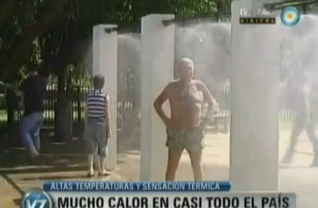 A onda de calor atingiu praticamente todo o território argentino