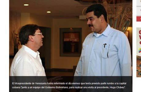 A viagem de Maduro foi anunciada na véspera. O ministro da Energia Elétrica vai assumir seu cargo enquanto o vice-presidente estiver em Cuba