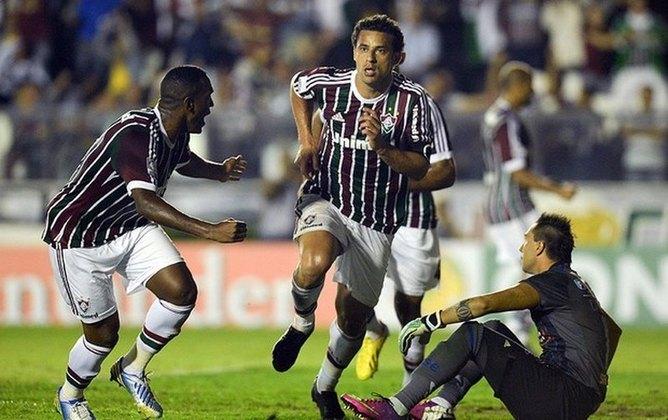 2013 - Fluminense x Emelec, pela Libertadores - Após um mês longe dos gramados, Fred vltou e marcou um dos gols da vitória que carimbou a vaga do Tricolor das Laranjeiras nas quartas de finais da competição continental.