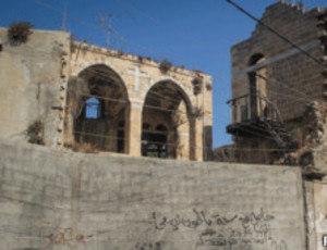 """Esta igreja de Gaza permanece de pé, mas """"engolida"""" por outras construções"""