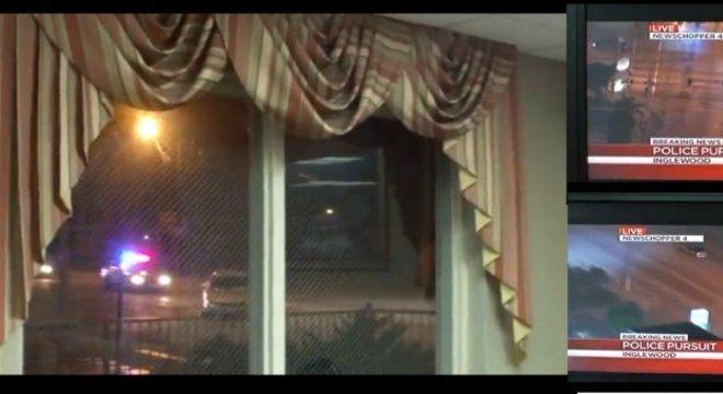 Quando tudo começou, a perseguição era transmitida em HD, mas, para Jason Lee, virou 3D rapidinho!