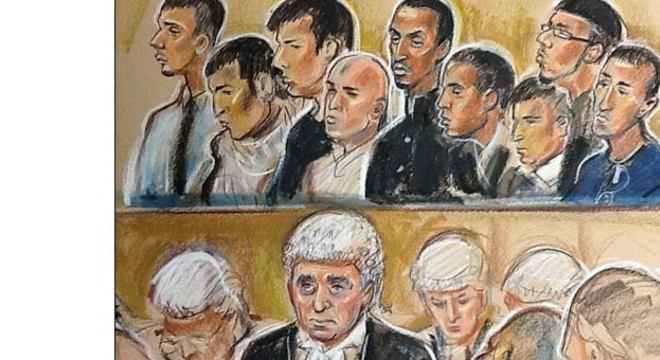 A revelação foi feita durante um complexo julgamento na Inglaterra que envolve nove acusados de tráfico sexual, estupro e prostituição infantil