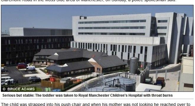 Estado de saúde de menino de dois anos internado em Manchester é grave, porém estável