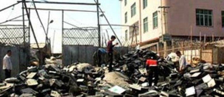 China é um dos principais destinos mundiais de lixo eletrônico