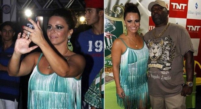 Vivi Araújo registra imagens do show de Mr. Catra na quadra da Mancha Verde, em São Paulo