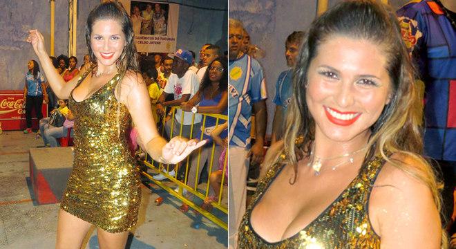 Lívia Andrade no ensaio da Acadêmicos do Tucuruvi