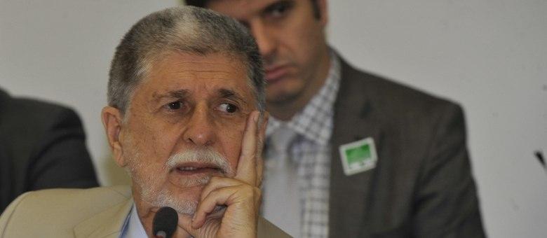 O ex-chanceler do Brasil Celso Amorim, em evento no Palácio do Planalto