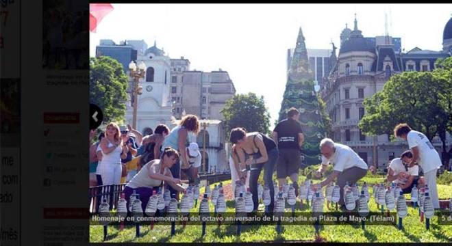 No oitavo aniversário da tragédia, em dezembro passado, familiares homenageiam as vítimas. O local onde ficava a boate em Buenos Aires se tornou um memorial