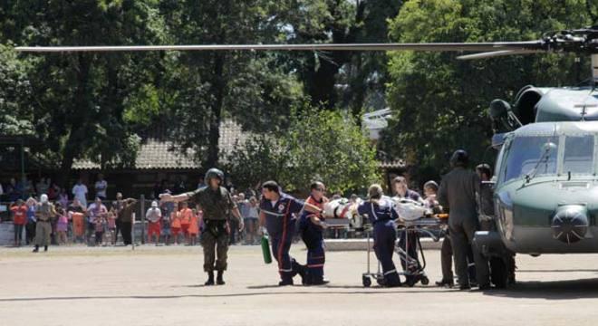 Feridos com maior gravidade foram removidos de helicóptero durante o domingo para hospitais de Porto Alegre