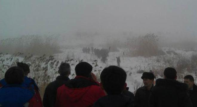 Um internauta postou no Twitter uma imagem do local do acidente