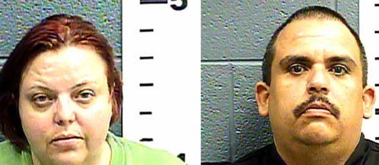 Cindy Patriarchias e o namorado, Edmond Gonzales, foram presos após o Departamento de Polícia de Las Cruces receber uma denúncia