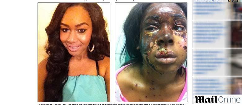 Naomi resolveu divulgar a imagem como um apelo para capturar sua agressora