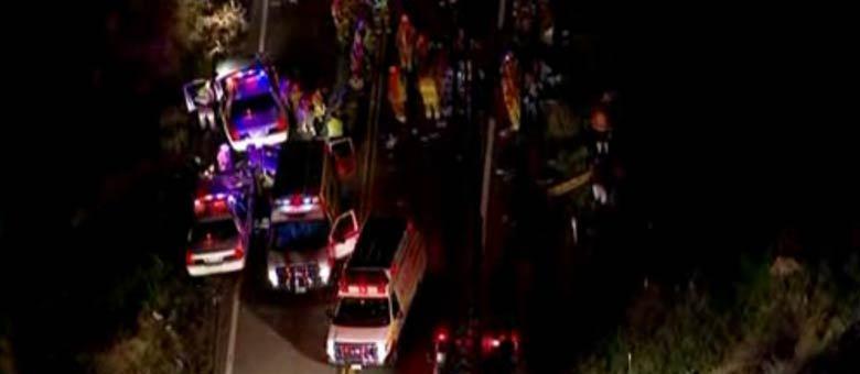 O acidente aconteceu em uma zona rural ao norte da cidade de Yucaipa