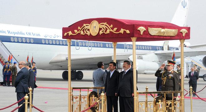 Num reflexo da aproximação atual entre os dois países, o presidente egípcio recebeu Ahmadinejad