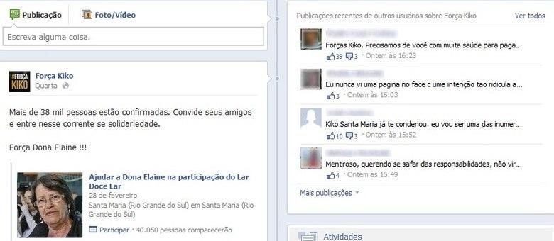 Página feita em solidariedade ao empresário recebeu ofensas de usuários da rede social