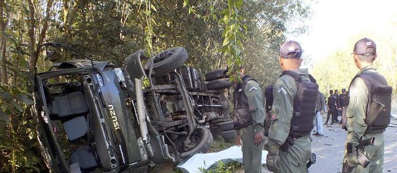Cinco soldados morreram e outro ficou ferido após um ataque de rebeldes contra uma patrulha no sul da Tailândia