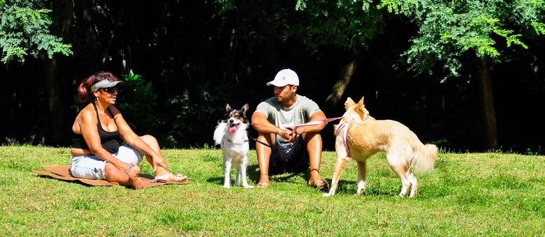 Paulistanos aproveitam sol e calor no Parque da Juventude, na zona norte de São Paulo