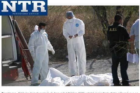 No ano de 2013, apenas no Estado de Zacatecas, já foram registrados 95 assassinatos relacionados ao crime organizado