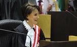 A nova vice-presidente do Tribunal Superior do Trabalho (TST), ministra Maria Cristina Irigoyen Peduzzi, durante solenidade de posse
