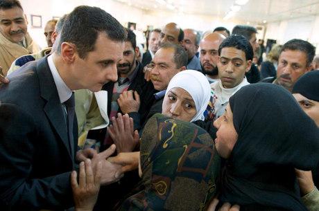 O presidente da Síria Bashar Al Assad
